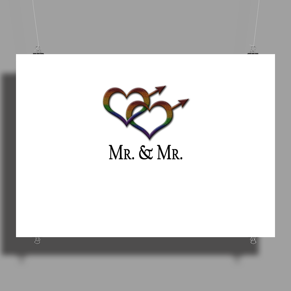 Mr. and Mr. Gay Pride Poster Print (Landscape)