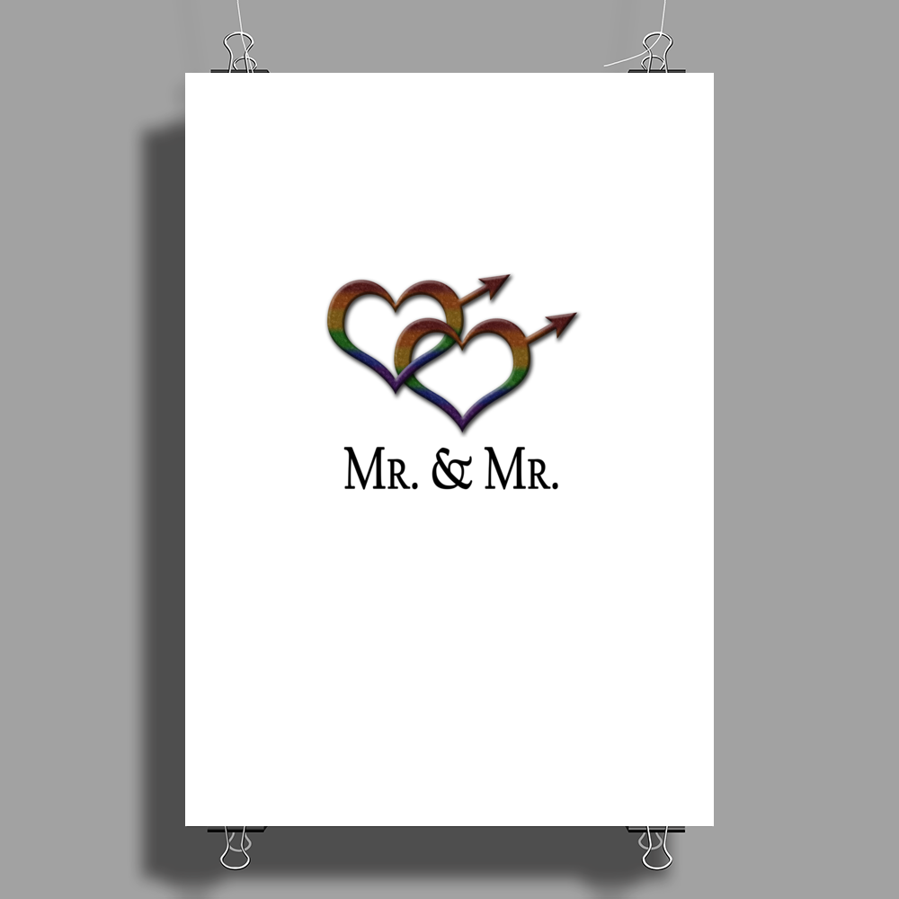 Mr. and Mr. Gay Pride Poster Print (Portrait)