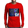 MR MIDNIGHT BLUE    HORSE Mens Long Sleeve T-Shirt