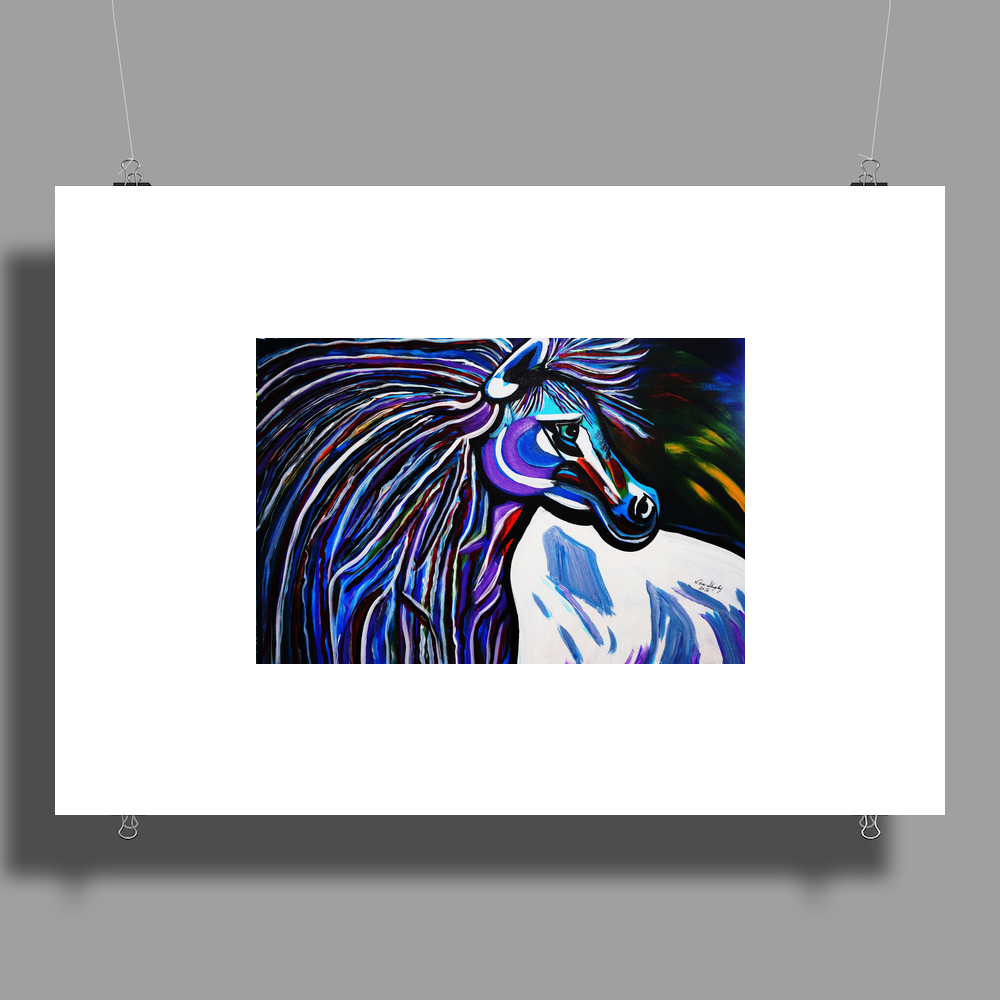 MR MIDNIGHT BLUE    HORSE Poster Print (Landscape)