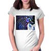 MR MIDNIGHT BLUE    HORSE Womens Fitted T-Shirt