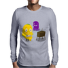 Mr. Monsteur is playing SNES! Mens Long Sleeve T-Shirt