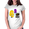 Mr. Monsteur is playing SNES! Womens Fitted T-Shirt