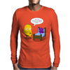 Mr. Monsteur is reading book - unfortunately... Mens Long Sleeve T-Shirt