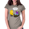 Mr. Monsteur is reading book - unfortunately... Womens Fitted T-Shirt