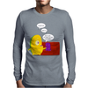 Mr. Monsteur waking up his friend! Mens Long Sleeve T-Shirt