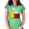 Mr. Monsteur waking up his friend! Womens Fitted T-Shirt