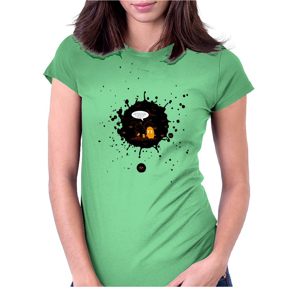 Mr. Monsteur wants to scare on Halloween! Womens Fitted T-Shirt
