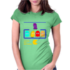 Mr. Monsteur's little chat with Pac-Man's enemies! Womens Fitted T-Shirt