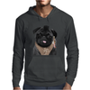 Mr P T-shirt Black Pug Mens Hoodie