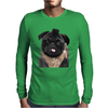 Mr P T-shirt Black Pug Mens Long Sleeve T-Shirt