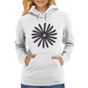 MrCrackin Circle of Owl Feathers Womens Hoodie