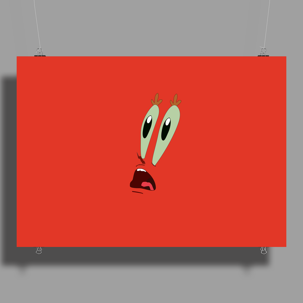MR.Krabs shock face Poster Print (Landscape)