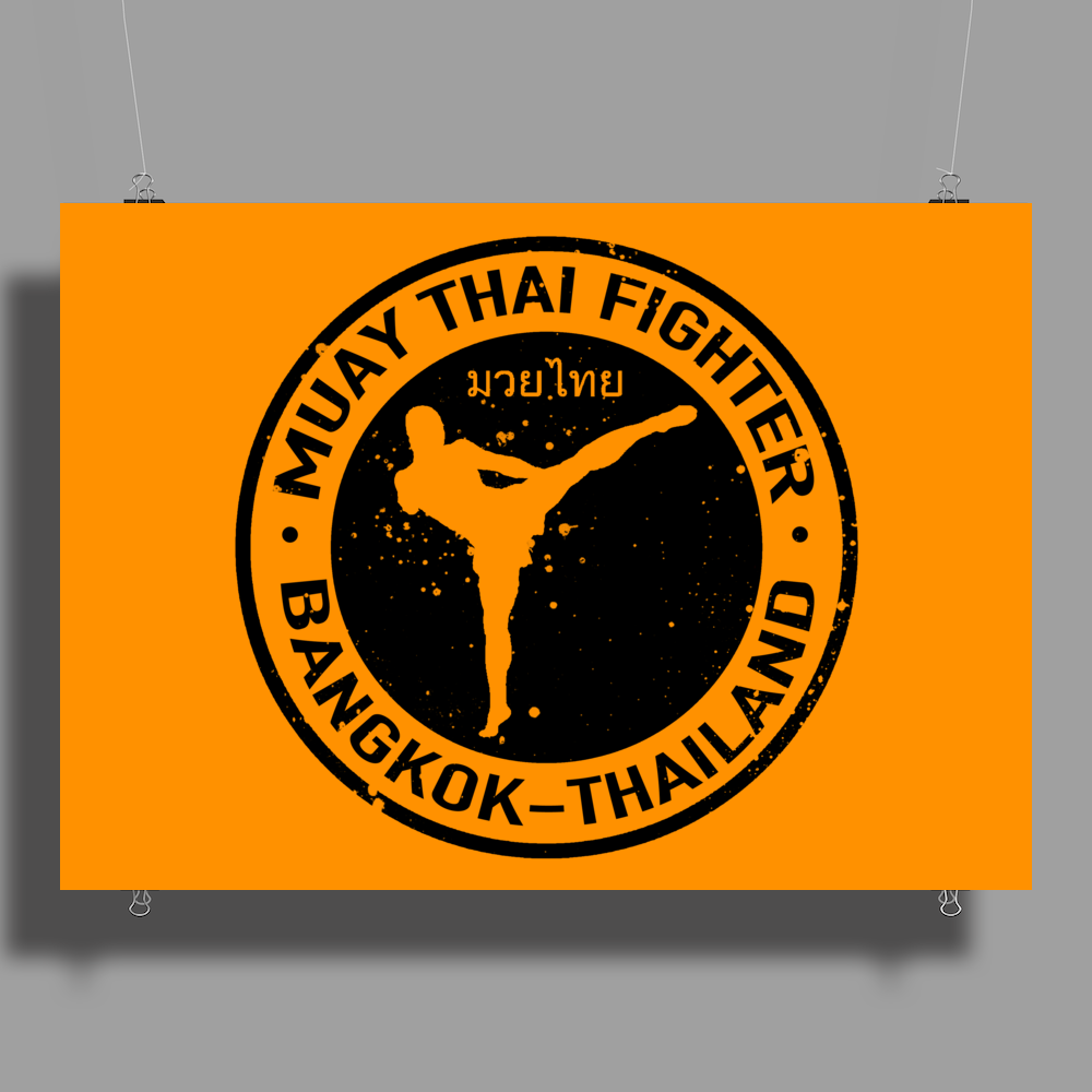 Muay Thai Fighter Poster Print (Landscape)