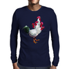 Multi-headed Rooster Mens Long Sleeve T-Shirt