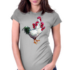 Multi-headed Rooster Womens Fitted T-Shirt