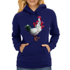 Multi-headed Rooster Womens Hoodie