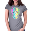 Multi Skulla Womens Fitted T-Shirt