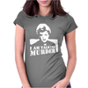 Murder She Wrote Deadly Lady Womens Fitted T-Shirt
