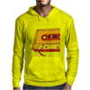 music compact cassette magnetic tape recording format graffiti street art vintage retro the 80's red Mens Hoodie