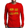 music compact cassette magnetic tape recording format graffiti street art vintage retro the 80's red Mens Long Sleeve T-Shirt