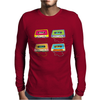 music compact cassettes magnetic tape recording format graffiti street art vintage retro the 80's Mens Long Sleeve T-Shirt