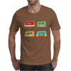 music compact cassettes magnetic tape recording format graffiti street art vintage retro the 80's Mens T-Shirt
