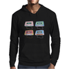 music compact cassettes magnetic tape recording pastel graffiti street art vintage retro the 80's Mens Hoodie
