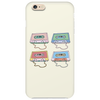 music compact cassettes magnetic tape recording pastel graffiti street art vintage retro the 80's Phone Case