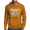 Music Dont Stop Mens Hoodie