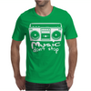 Music Dont Stop Mens T-Shirt