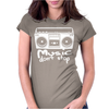 Music Dont Stop Womens Fitted T-Shirt
