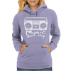 Music Dont Stop Womens Hoodie