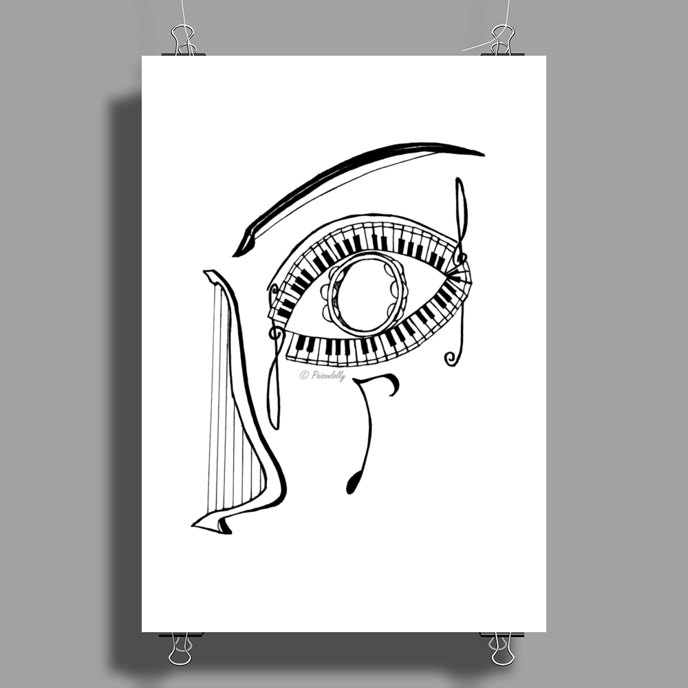 Music Eyes Poster Print (Portrait)