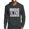 Music Is The Answer Printed Mens Hoodie