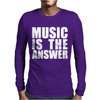 Music Is The Answer Printed Mens Long Sleeve T-Shirt