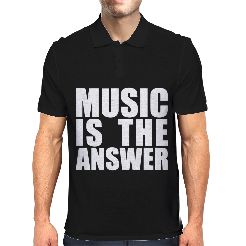 Music Is The Answer Printed Mens Polo
