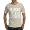 Music Is The Answer Printed Mens T-Shirt