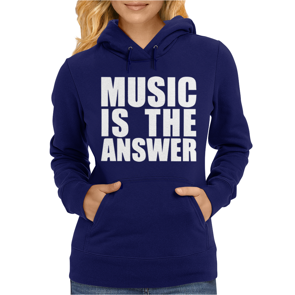 Music Is The Answer Printed Womens Hoodie