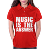 Music Is The Answer Printed Womens Polo