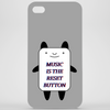 Music is the reset button Phone Case
