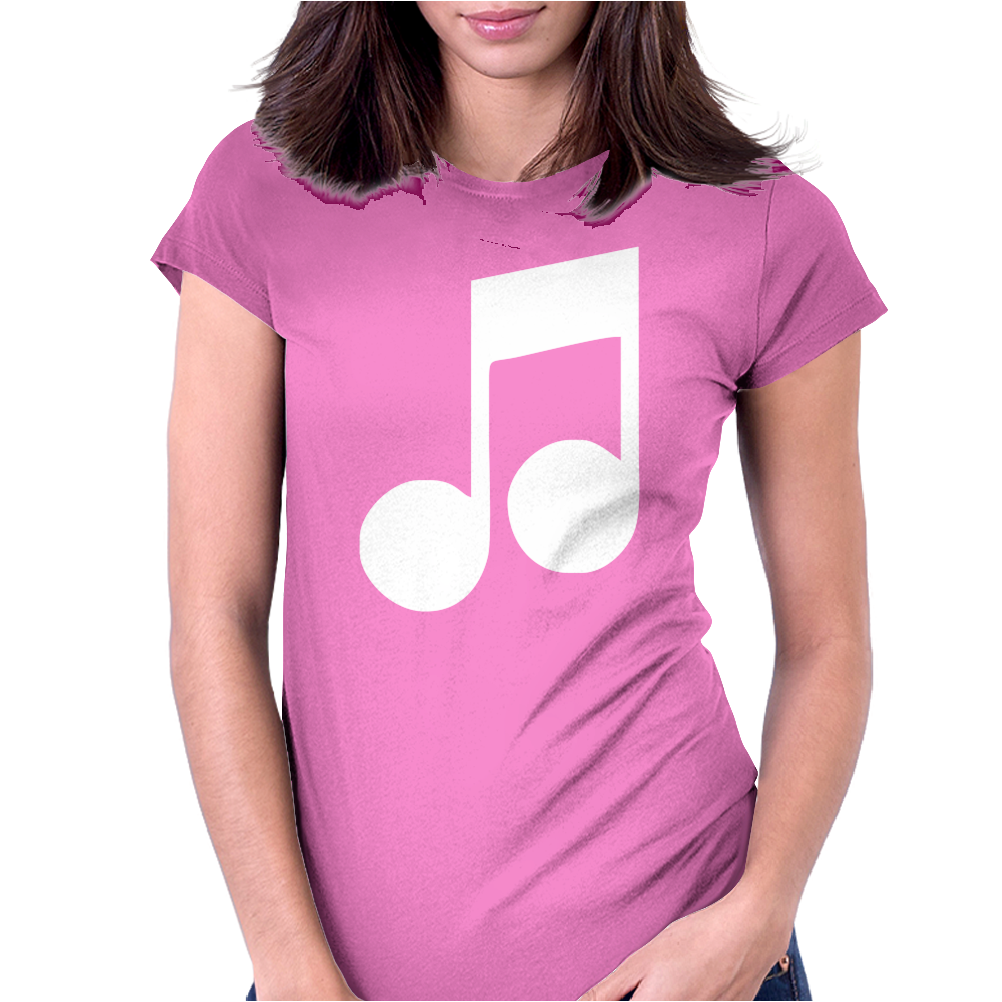 MUSIC NOTE Womens Fitted T-Shirt
