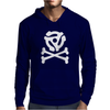 music skull and crossbones Mens Hoodie