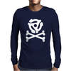 music skull and crossbones Mens Long Sleeve T-Shirt