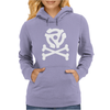 music skull and crossbones Womens Hoodie