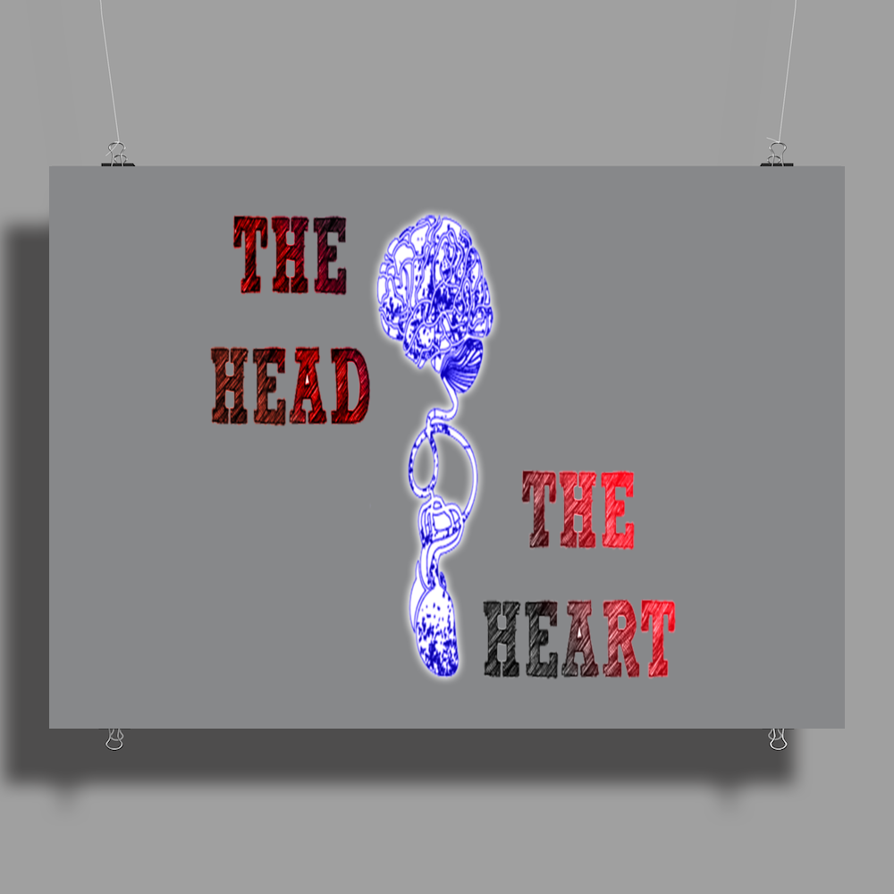 music style the head and the heart Poster Print (Landscape)