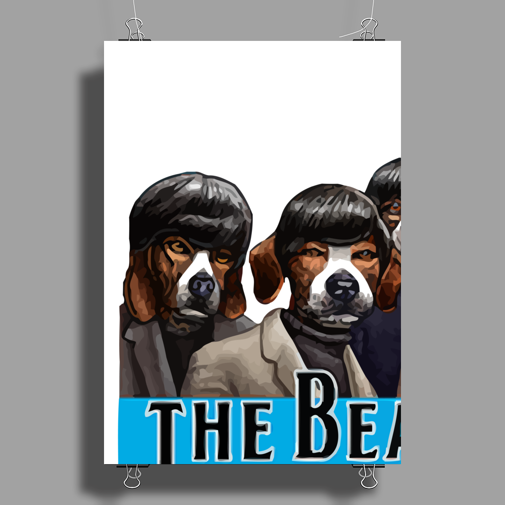 musical dog Poster Print (Portrait)