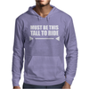 Must Be This Tall To Ride Funny Mens Hoodie