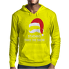 Mustache Christmas - Staching thru the Snow Mens Hoodie
