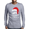 Mustache Christmas - Staching thru the Snow Mens Long Sleeve T-Shirt